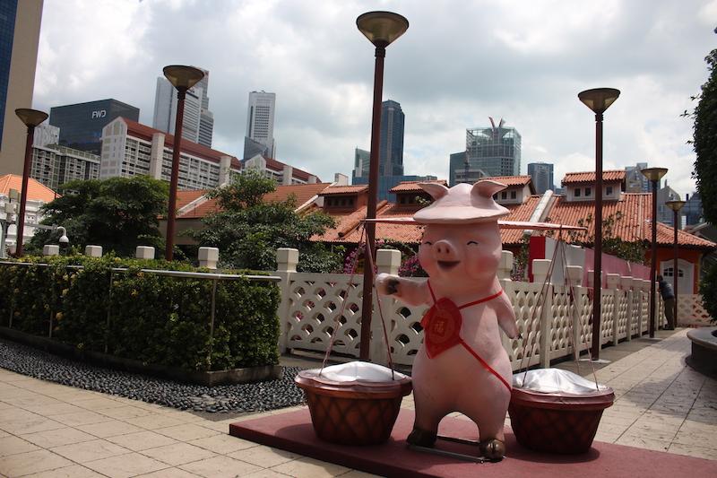 Jahr des Schweins Singapur
